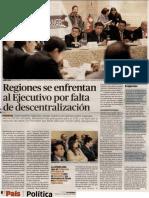 17-07-15 Regiones se enfrentan al Ejecutivo por falta de descentralización