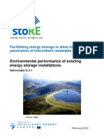Environmental Performance of Existing Energy Storage Installations