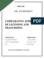 franchising vs. licensing