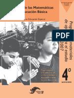 Programa de La Asignatura de Enseñanza de Las Matematicas Licenciatura en Educación Especial