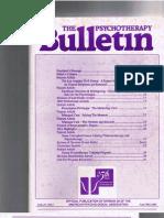 Psychotherapy Bulletin 27 (3) Fall 1992-1993