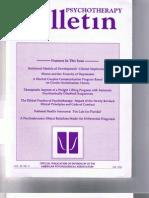 Psychotherapy Bulletin 28 (3) Fall 1993