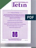 Psychotherapy Bulletin 28 (4) Winter 1993