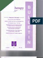 Psychotherapy Bulletin 29 (3) Fall 1994