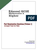 GCSE Past Examination Questions Volume (1)