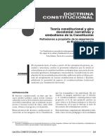 TEORÍA CONSTITUCIONAL Y GIRO DECOLONIAL_ Narrativas y Simbolismo de La Constitución _Reflexiones a Propósito de La Experiencia de Bolivia y Ecuador