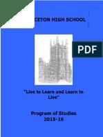 Program of Studies 2015-2016