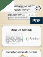 Uso de la plataforma Scrib