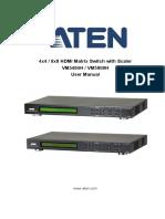 ATEN VM5404H / VM5808H User manual