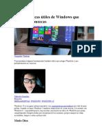 Características Útiles de Windows Que Quizás No Conozcas