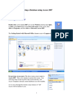 Creating a Database Using Access 2007