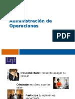 Adminsitracion de Operaciones UNIDAD I - II