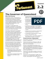 Factsheet 2.2 GovernorOfQueensland
