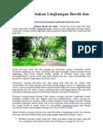 Cara Menciptakan Lingkungan Bersih Dan Sehat