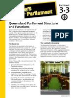 Factsheet 3.3 QldParliamentStructureAndFunctions