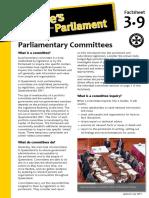Factsheet 3.9 ParliamentaryCommittees