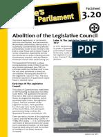 Factsheet 3.20 AbolitionOfTheLegislativeCouncil