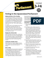 Factsheet 3.24 VotinginTheQueenslandParliament