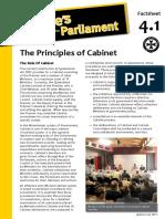 Factsheet 4.1 PrinciplesOfCabinet