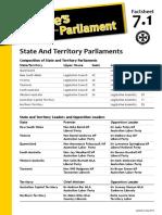 Factsheet 7.1 StateAndTerritoryParliaments