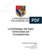 La Estrategia Del Siglo; Entrevistas Por Competencias