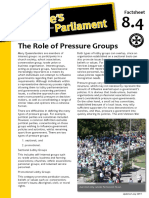 Factsheet 8.4 PressureGroups
