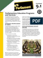 Factsheet 9.1 ParliamentaryEducationServices