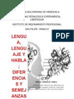 Trabajo de Monografias y Chistes Leguaje Culto y Vulgar