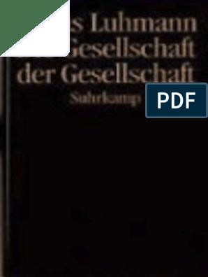Niklas Luhmann 1998 Die Gesellschaft Der Gesellschaft 2