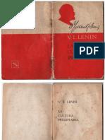 La Cultura Proletaria. Lenin