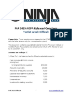 AICPA Released Questions FAR 2015 Difficult