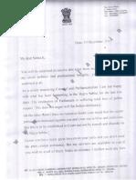 Ram Jethmalani Letter