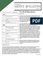 ES Parent Bulletin Vol#10 2016 January 15