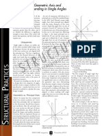 Comparison of Geometric Axis and Principal Axis Bending in Single Angles