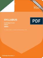 cie o level syllabus year 2015