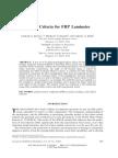 Failure Criteria for FRP Laminates