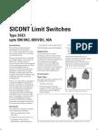 23.SICONT Limit Switches Type 3SE3 Upto 500V
