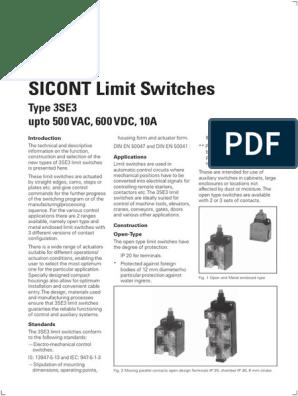 3SE3020-1A LIMIT SWITCH LIMIT SWITCH,PLUNGER,1NO+1NC,SNAP-ACTION