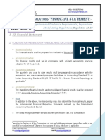 SEBI- Financial Statement
