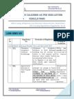 SEBI (LODR) - Compliance Calender