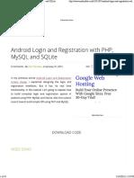 AndroidLoginAndRegistration v2