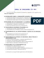 Cuadro Indicadores Ita 2014
