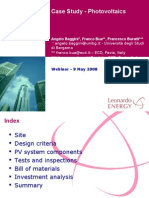 Photovoltaics Case Study