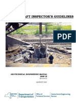 Drilled shaft inspector guideline