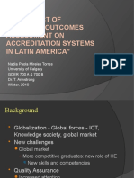 The impact of learning outcomes assessment on accreditation systems in Latin America