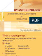 Anthropological Criticism in Literature