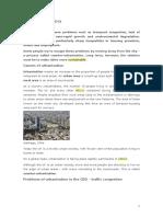 Urbanisation in MEDCs