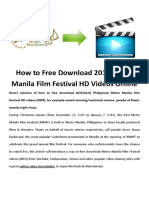 Metro Manila Film Festival HD Videos Free Download