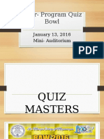 Inter- Program Quiz Bowl