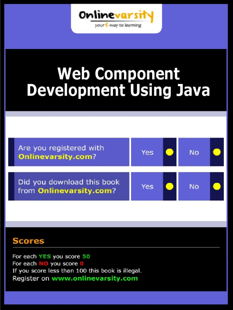 Web Component Development Using Java_INTL | Java Servlet